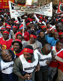 S. Africas workers strike for justice, jobs
