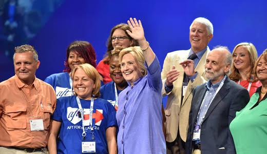Teachers' convention celebrates history, vision for future, Clinton support