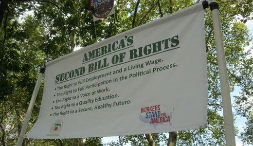 45,000 workers march in support of Second Bill of Rights