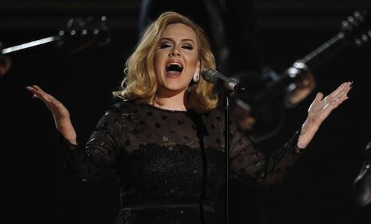 Grammys: prayer for Whitney, praise for Adele