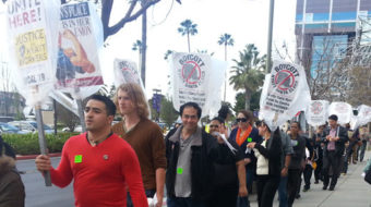 Union and community members hit Hyatt for union-busting