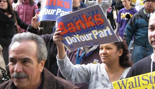 Oakland residents demand action vs. banks