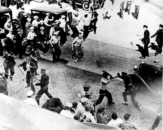 1934 Minneapolis Teamsters strike, one key precursor to Wagner Act