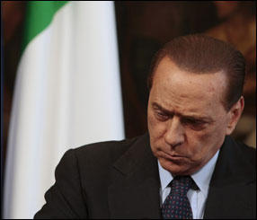 "Media fury over Berlusconi's ""gag"""