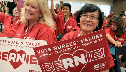 National Nurses United endorses Sanders