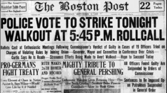 Today in labor history: 1919 Boston police strike