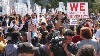 Univ. of California community protests cutbacks