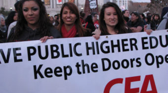 Thousands march to save public education