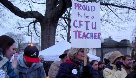 R.I. town becomes ground zero in war on teachers