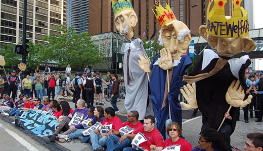 5,000 join union-led march against corporate greed