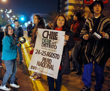 Chile resists – students and labor join forces