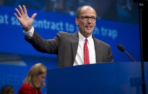 "Labor Secretary Perez vows to grow middle class, ""so help me God"""