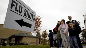 Wall Street gets swine flu vaccine before others