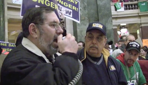 Video: Steelworkers support Madison public workers