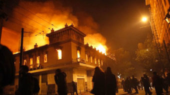 Athens burns after austerity approval