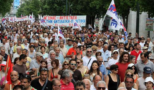 Greek workers stage second general strike in two weeks