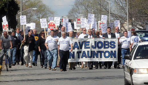 Workers in New England rustbelt fight to keep plant open