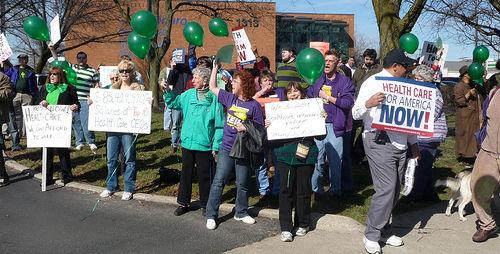 Labor mobilizes votes for health care bill