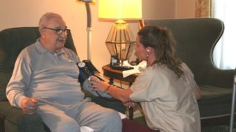 Lawmaker goes to bat for home care workers
