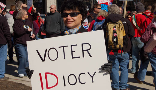 Labor leader supports Obama admin's blocking of voter ID laws