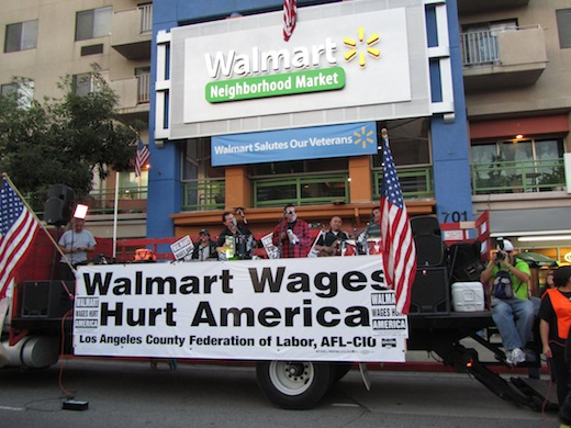 50 arrested protesting Walmart's poverty wages