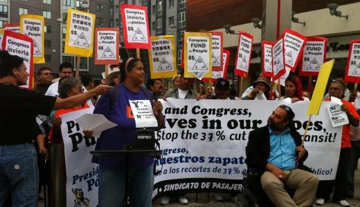 Video: LA bus riders protest transportation cuts