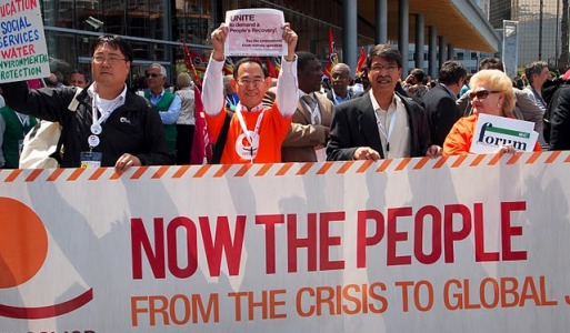 In Vancouver, global labor rallies for jobs