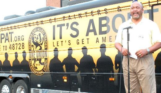 Painters bus tour rallies the vote
