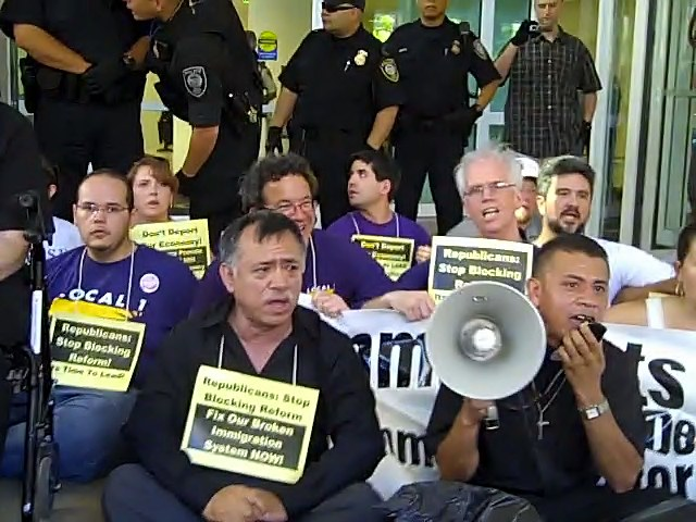 32 arrested at ICE offices, say immigration reform can't wait