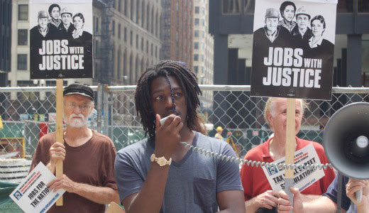 Chicago activists rally for jobs not cuts