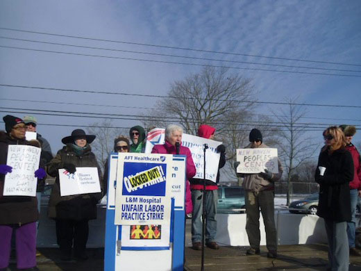Locked out L&M nurses, techs get outpouring of support