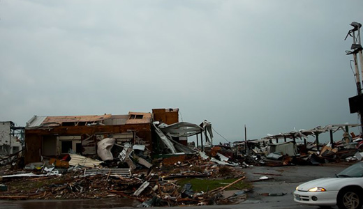 Unions help towns in tornado aftermath