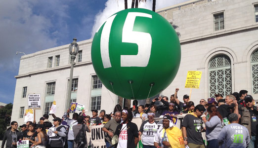 Today in labor history: Fast-food workers strike for $15 in seven U.S. cities