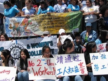In English, Chinese and Spanish, low-wage workers demand rights bill