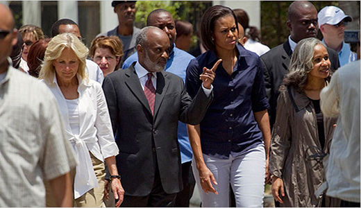 Michelle Obama to Haiti: U.S. and world stands with you