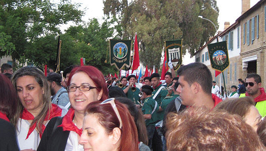 Unions organize historic event on Cyprus
