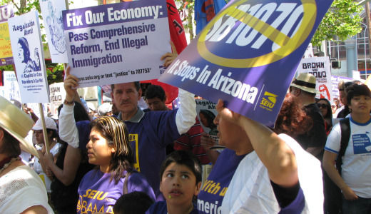 Huge May Day rallies fueled by outrage over Arizona law