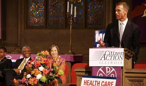 Rally marks first birthday for Obama health care law