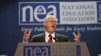 NEA splits with Obama over education law