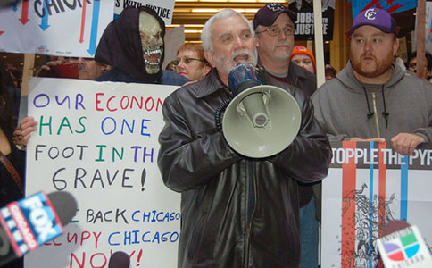Workers United convention rallies in solidarity with Occupy Chicago