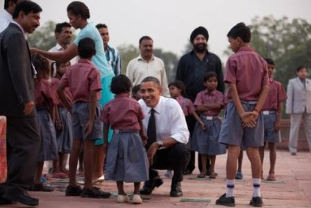 Obama in land of Gandhi