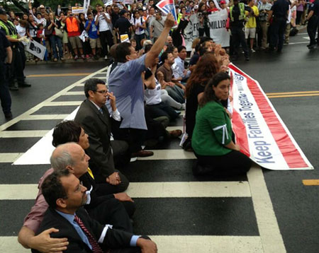 Union leaders and allies arrested at Capitol immigration protest