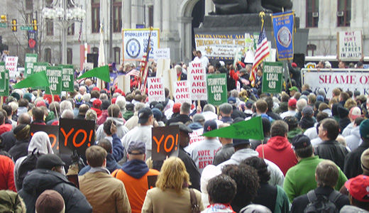 Philadelphia rally for Wisconsin workers: Everybody needs a union