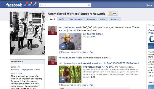 Unemployed tell their stories – online