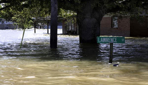 Blown-up levee destroys black community