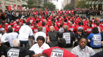 Hotel workers stage sit-in at Hyatt