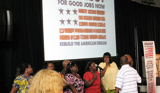 """Good Jobs"" tour: Detroiters say we need jobs, not spending on war"