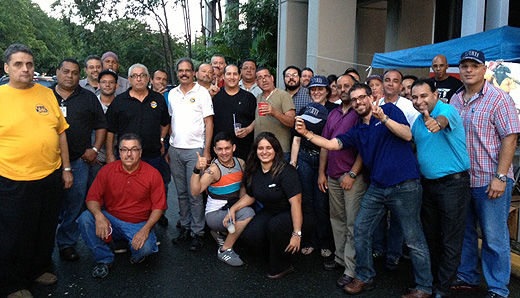 Puerto Rican phone workers join forces with OPEIU