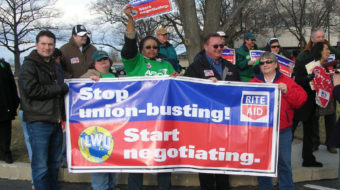 Give us our rights, workers tell Rite Aid