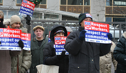 Demonstrators to Rite Aid: Respect workers, respect communities